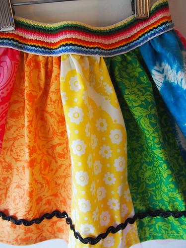 rainbow skirt ric rac echos waistband