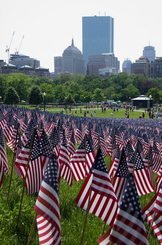 Boston Common Memorial Day Flag Garden