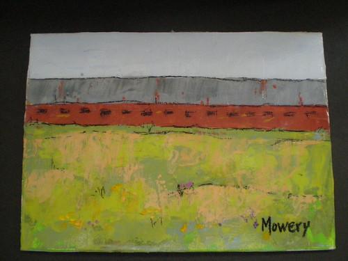 Chicken house, acrylic, Barbara Mowery 2012