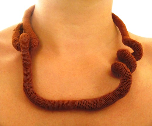 Crochet necklace - Tendril