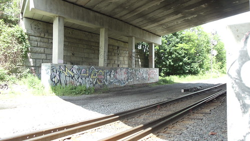 Under the viaduct: Oneonta, NY by JuneNY