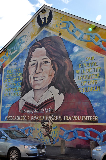 Bobby sands mural in the falls road catholic for Bobby sands mural