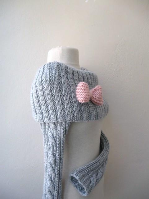 Long Sleeved Shrug Knitting Pattern : Knit Turtleneck Shrug-cable pattern-light grey mohair-long sleeves Flickr -...