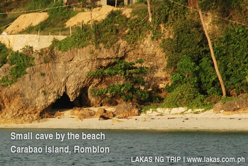 Caves by the beach, Carabao Island, Romblon
