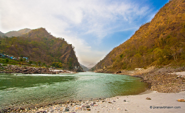 Majestic Ganges Flowing Through Mountains by Pranav Bhasin