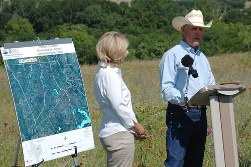 "Gary, right, and Sue Price have been implementing conservation practices for more than 35 years they on their ""77 Ranch"" and they have submitted an application for the new national water quality initiative."