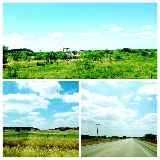 West TX road trip scenes.