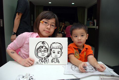 caricature live sketching for a birthday party - 9