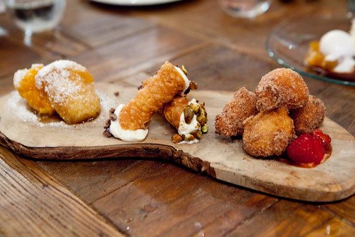 Italian pastry trio