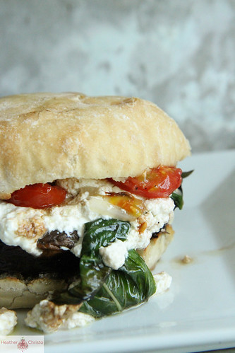 ... Burger with Roasted Ricotta, Basil and Cherry Tomatoes | Heather