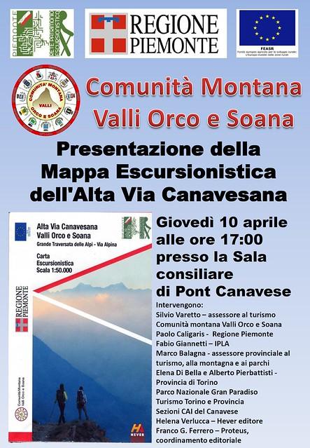 Presentazione Mappa escursionistica dell'Alta Via Canavesana