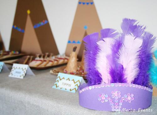 Coronas Niñas Cumpleaños Pocahontas Merbo Events