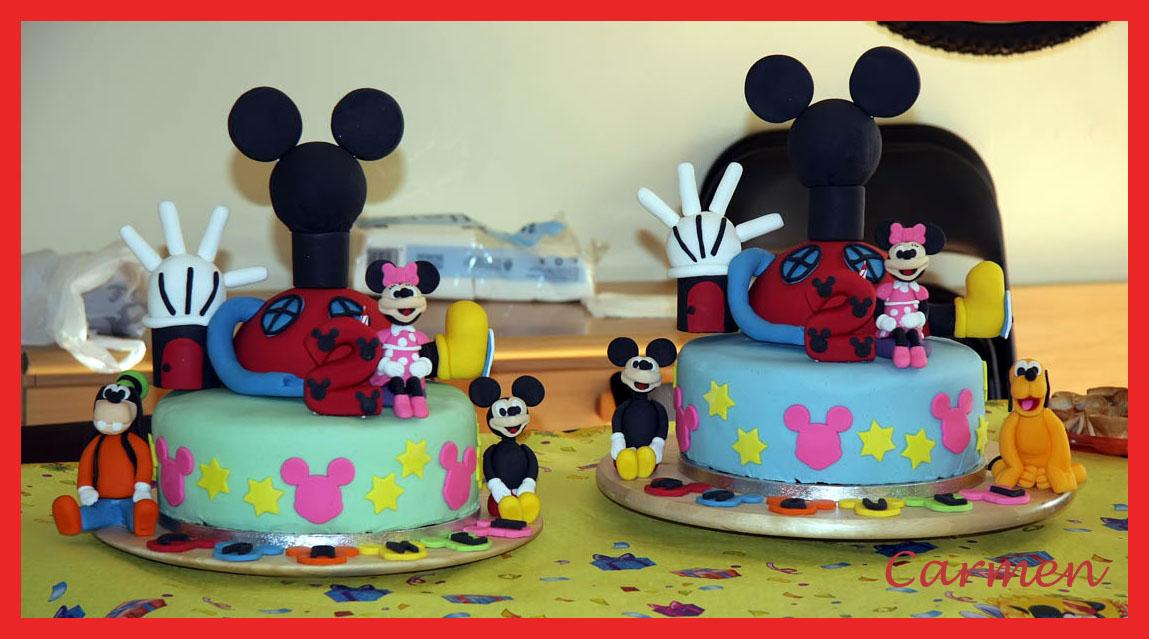 Tartas casa de mickey mouse no quieres caldo pues for Decoracion cumpleanos nino 2 anos