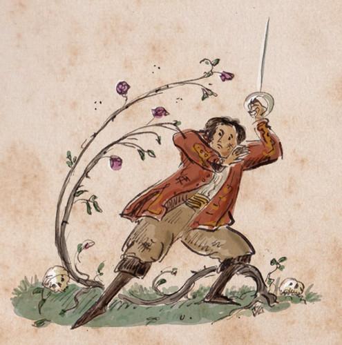 Illustration Friday: Natural - roses