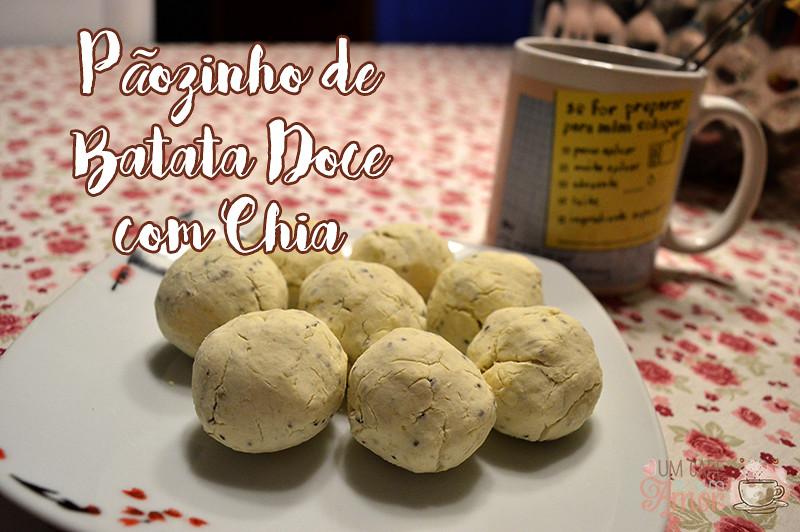 Pãozinho de Batata Doce com Chia
