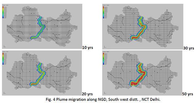 Plume migration along NGD, South west distt. , NCT Delhi