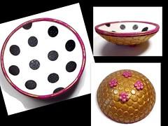 polymer clay Polka dot Ring Dish