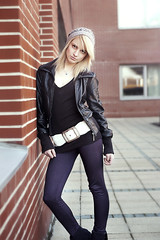 textile, leather jacket, model, footwear, clothing, collar, leather, outerwear, leg, fashion, jacket, photo shoot, lady,