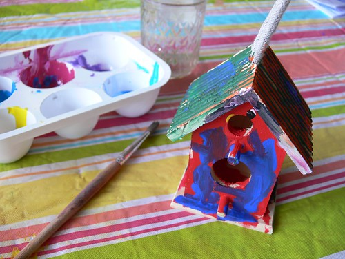 Jenny: Painted Birdhouse