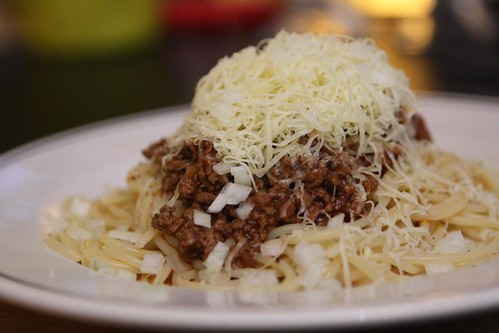 Spaghetti with Cincinnati Chili