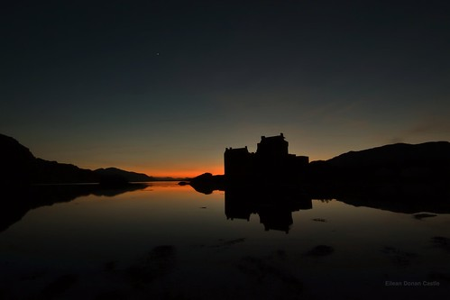 Eilean Donan Castle and Venus, Scottish Highlands by Michael & Ashley
