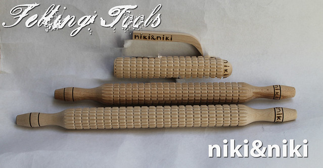 Hand crafted felting tools from 'niki & niki'