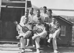 Members of the Newmarket local tennis club in Brisbane, ca. 1935