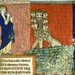 Vision de saint Jean. the beast from the sea.  France 1220-70. miniature. Bib. de Toulouse