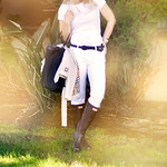 white jeans and t- black accessories-hunter boots