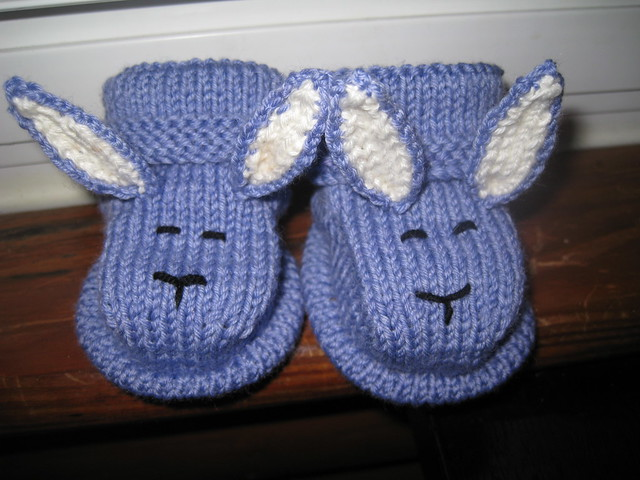 bunny bootees