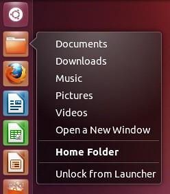 ubuntu quicklist