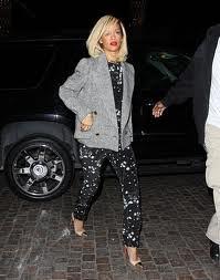 Rihanna Cap Toe Heels Celebrity Styling Fashion