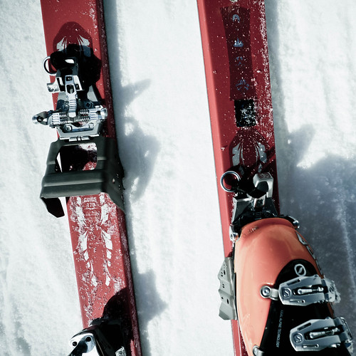 Ski crampons were necessary