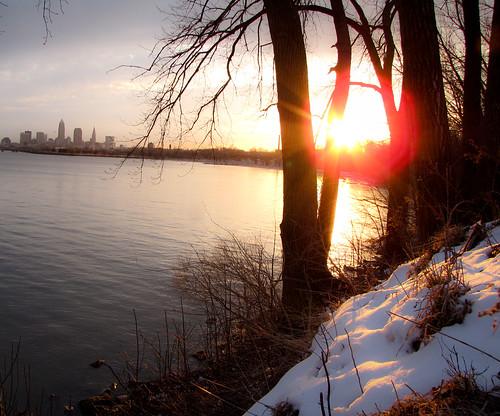 travel ohio sunrise lakeerie cleveland 2012