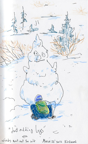 March 2012: Sketching in the Snow