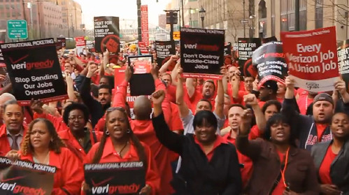 March 22 - Verizon Informational Picket - NYC