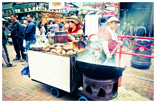 sweet potato vendor at sham shui po