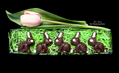 The Bunny Hop - Gianduja filled chocolate bunnies