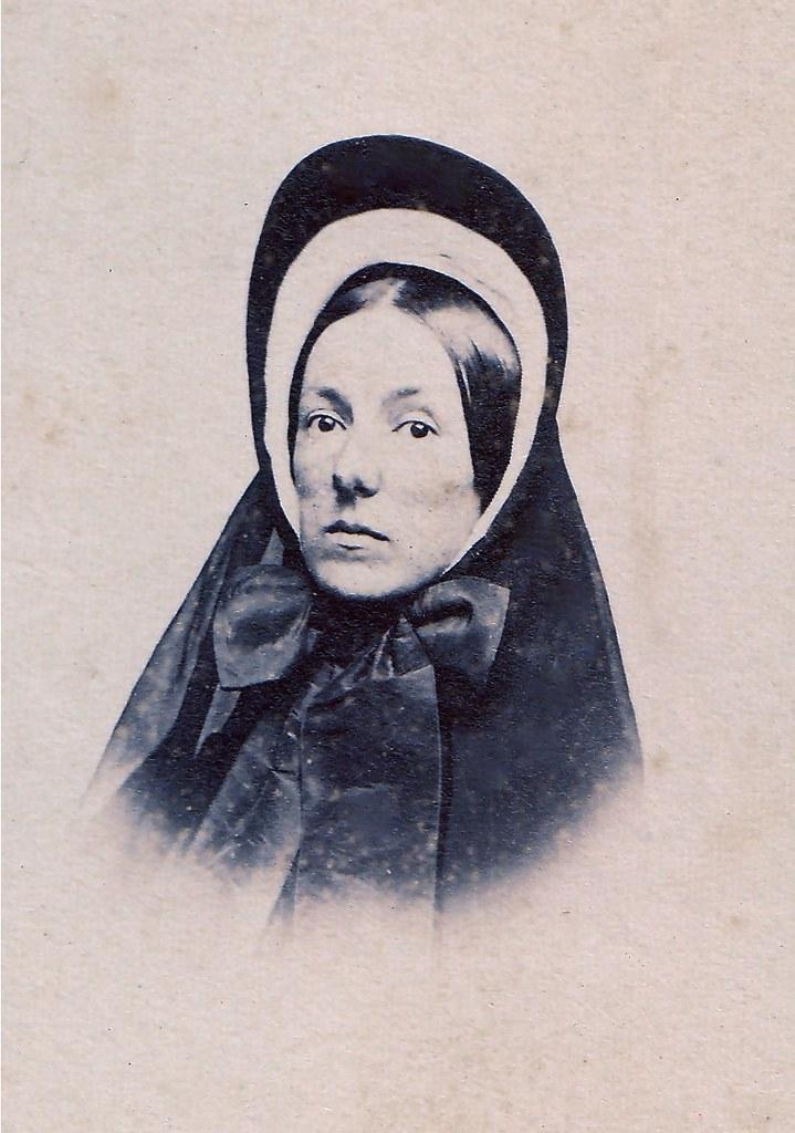 Grieving Widow Albumen Carte De Visite Circa 1862