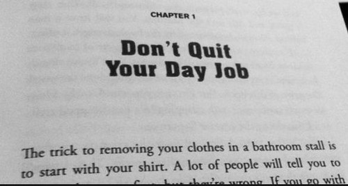 First Line of Jon Acuff's Book 'Quitter'