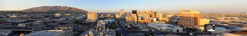 Downtown El Paso - Panoramic - Rectilinear