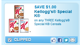 Save $1.00 On Any Three Kellogg