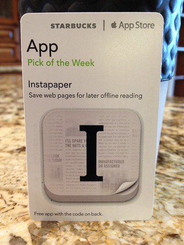 Starbucks iTunes Pick of the Week - Instapaper