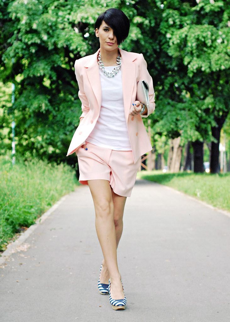 Pastel suit…