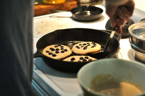 blueberry wheat germ pancakes