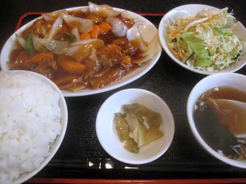 酢豚定食@(桜台)