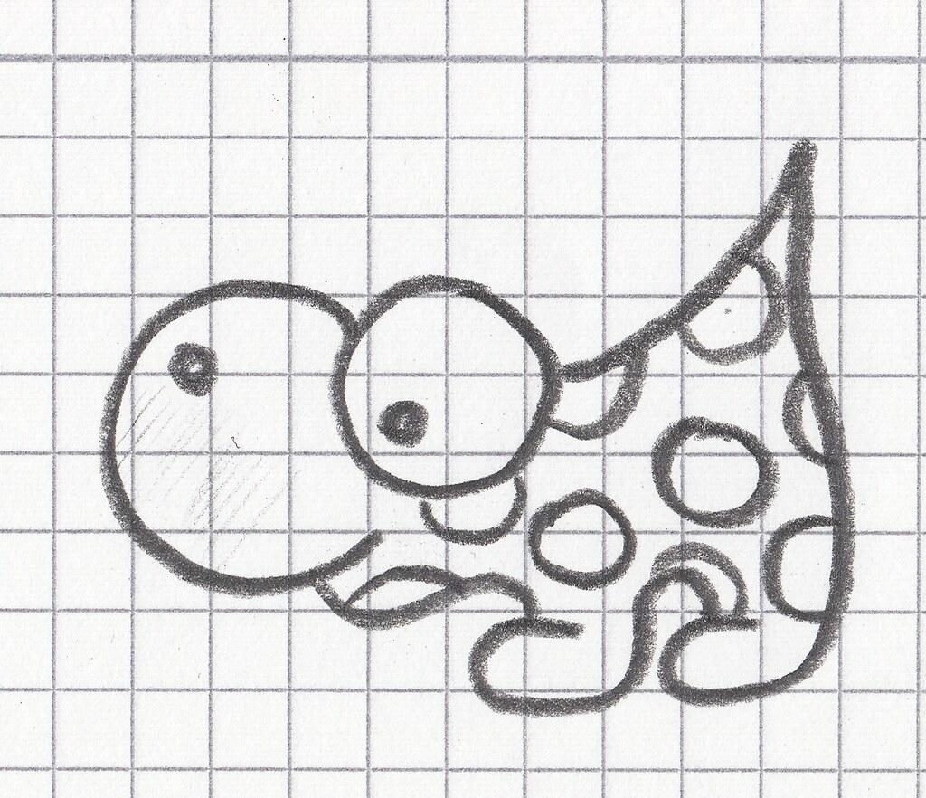 un animal avec des points