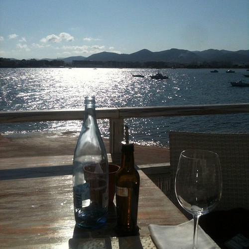 Our view at Sa Punta Talamanca beach.#ibiza