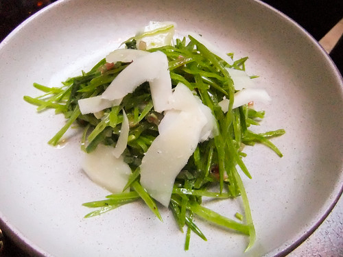 Snow Peas with Pancetta, Pecorino and Mint, the NoMad