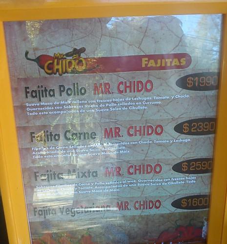 Mr. Chido - Carta